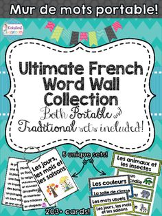 This large comprehensive package includes the portable summary vocabulary cards, individual vocabulary cards, title cards and blank cards for 5 word wall sets.