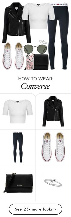 """""""Untitled #303"""" by findthefinerthings on Polyvore featuring Tommy Hilfiger, Michael Kors, Casetify, Converse, Topshop and Ray-Ban"""