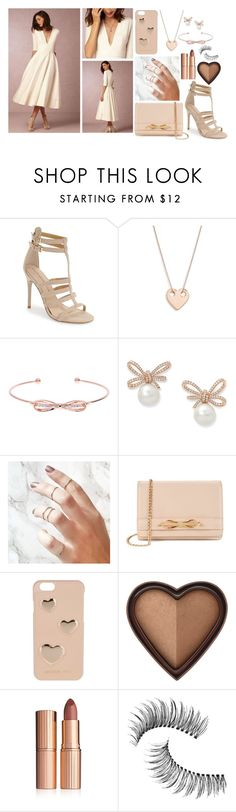 """Tell me it's not true"" by itsnotme-484 ❤ liked on Polyvore featuring BHLDN, Chinese Laundry, Ginette NY, Ted Baker, MICHAEL Michael Kors, Too Faced Cosmetics, Charlotte Tilbury and Trish McEvoy"