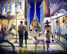 Paris Shopping Giclée Print on Canvas