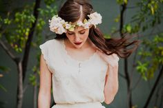 Blush Silk Blossoms Flower Crown from Mignonne Handmade