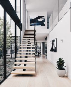 Modern Staircase Design Ideas - Stairs are so usual that you don't give them a second thought. Take a look at best 10 instances of modern staircase that are as stunning as they are . Interior Design Examples, Interior Design Inspiration, Decor Interior Design, Modern Interior, Design Ideas, Minimalist Interior, Minimalist Décor, Interior Design Photography, Minimalist Architecture