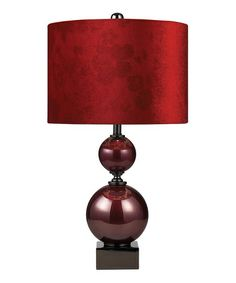 This Red Everson Table Lamp is perfect! #zulilyfinds
