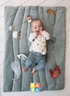 Baby Play, Baby Toys, Diy Bebe, Activity Mat, Ocean Themes, Playpen, Natural Baby, New Baby Gifts, New Baby Products