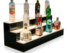 Your place to buy and sell all things handmade Liquor Shelves, Bar Shelves, Lighting System, Bar Lighting, Liquor Bottles, Vodka Bottle, Bar Led, Bar Displays, Bottle Display