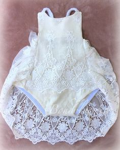Boho Romper, Lace Romper, Baby Girl Romper, Baby Dress, Baby Girl Fashion, Kids Fashion, Babies Fashion, Surfer Girl Outfits, Girls Rompers