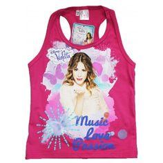tee shirt dbardeur violetta rose music love passion 100 coton vtement fille violetta