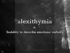 {em} Alexithymia