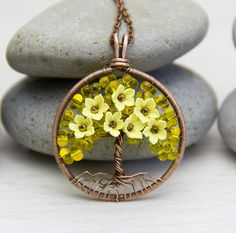 Tree-Of-Life Necklace Pendant Copper Wire Wrapped от JewelryFloren