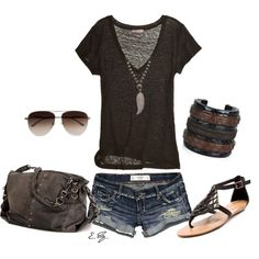 Cute Edgy Summer Outfits Simple and edgy.