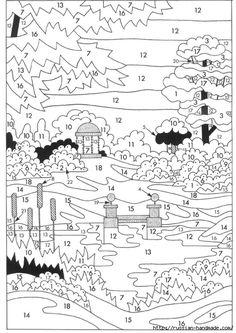 Картина ОСЕННИЙ ПЕЙЗАЖ. Вышивка гладью (5) (494x700, 264Kb)