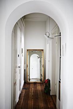 Mirror , Crisp Walls & Trim , beautiful wood flooring