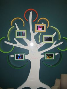 Pinner says:  I like YOUMedia's whiteboard tree. Kids can write on the trunk and look at images on the digital picture frames. Replace picture frames with iPads? :)