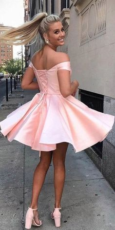 Simple Off the Shoulder Pink Homecoming Dresses Cheap Lace up Homecoming Dress on sale – PromDress.uk A-Line Spaghetti Straps V-Neck Dusty Pink Homecoming Dresses,Party dresses Dresses Elegant, Simple Dresses, Cheap Dresses, Pretty Dresses, Sexy Dresses, Casual Dresses, Dresses For Work, Summer Dresses, Pink Dresses
