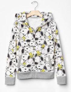 Gap Kids + Peanuts Snoopy S Small 6-7 Black White Hoodie Sweatshirt New NWT #GapKids