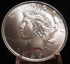 1969 Peace Dollar Fantasy Issue Novelty Trick Coin AU