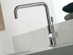 Bridge single handle 1 hole washbasin mixer Modo Series by ZAZZERI   design Roberto Innocenti