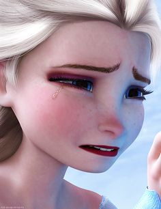Disney Frozen Elsa picture omg the tear looks sooo real! Frozen And Tangled, Frozen Heart, Frozen Movie, Disney Frozen Elsa, Disney Magic, Frozen Frozen, Disney Films, Disney And Dreamworks, Disney Pixar