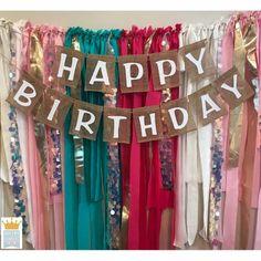 New Birthday Banner Burlap 18 Ideas Birthday Message For Him, Sister Birthday Quotes, Valentines Day Birthday, Birthday Gifts For Sister, Birthday Love, Birthday Gifts For Boyfriend, Happy Birthday Banners, Rustic Birthday, Fabric Garland