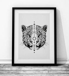 Panther Wieprz Design Studio. #cat #panther #leopard #geometry #blackandwhite