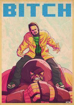 Juggernaut and Jesse Pinkman by Marco D'Alfonso
