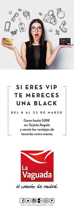 Campaña de publicidad en quioscos de prensa de Madrid de la tarjeta VIP de La Vaguada. La promoción consiste en descuentos y promociones exclusivas.