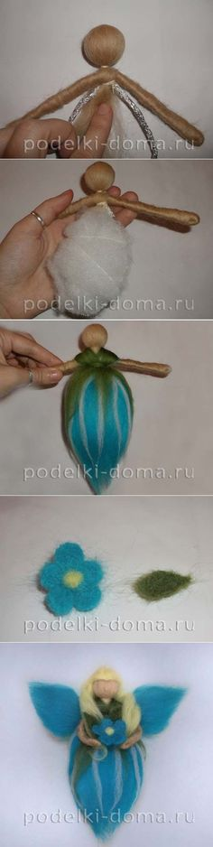 "Doll 'Fairy forget-me-not ""- felting"