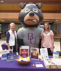 Bellevue University Student Orientation August 22, 2014. Barbara Haney, Chrystal Dawson and BRUTUS!
