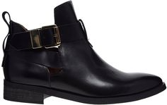 62f409e0d64542 Black Cutout Leather Ankle Boots by Miista. Buy for  189 from Asos Schwarze  Stiefeletten