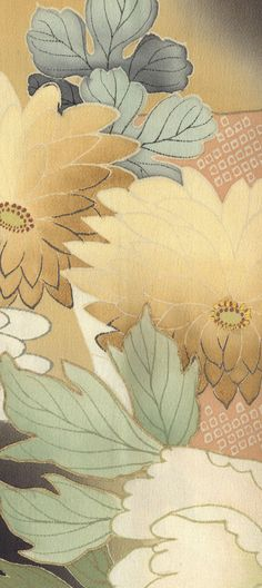 detail of silk tomesode, Taisho (1912-1926).  Yorke Antique Textiles