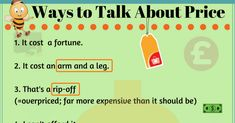 20+ English Expressions for Talking about Price 4
