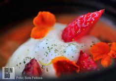 Gazpacho de fresas bien refrescante para el calor.