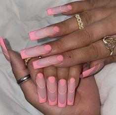 Long Square Acrylic Nails, Pink Acrylic Nails, Coffin Nails Long, Acrylic Nail Designs, Long Square Nails, Stiletto Nail Designs, Coffin Press On Nails, Long Nail Designs, Nails Design