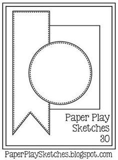 CARDZ TV: PAPER PLAY SKETCH #30 ~ THANK YOU CARD