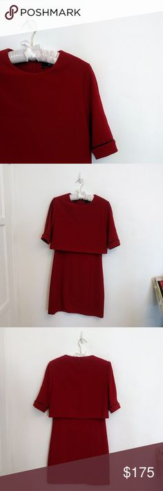 The Kooples Dress Red dress with tight-fitting bottom and looser top. In great condition, only worn once! The Kooples Dresses