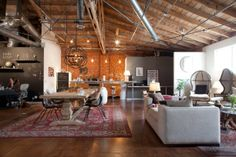 If we ever buy a loft, this is what I want it to look like! // Mulu's Creative + Vintage Collective Den Office