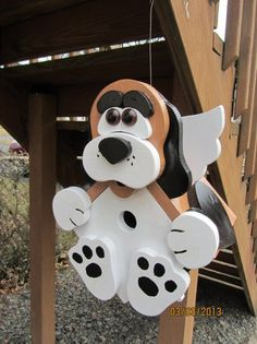 "This handmade birdhouse @Etsy is so much fun! Custom Wooden ""Bird Dog"" Functional Birdhouse"