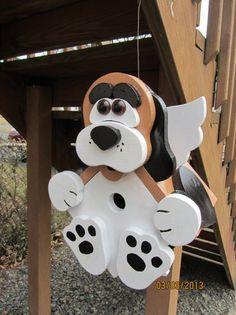 "This handmade birdhouse @Etsy is so much fun! Custom Wooden ""Bird Dog"" Functional Birdhouse"