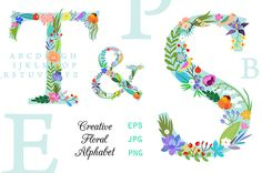 Lera Efremova floral alphabet