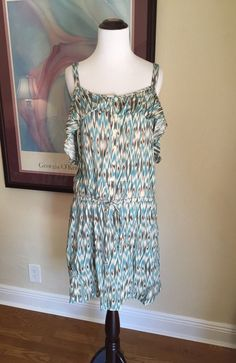 $98 Anthropologie IKAT by Lilka Dress LARGE 10 12 Women's Sundress Sleeveless #Lilka #Sundress #Casual #anthropologie