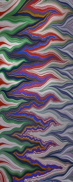 Marbled paper by Susan Pogany.: