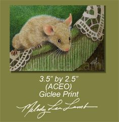 Mouse Art by Melody Lea Lamb ACEO Art by MelodyLeaLamb on Etsy, $6.25