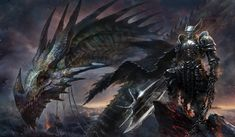 fantasy concept art, dragon knight