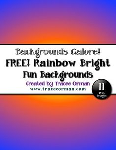 Free Rainbow Bright Digital Paper Clip Art Backgrounds