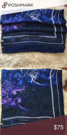 Roberto Cavalli Scarf 100% Silk Scarf. Hair wrap, bathing suit cover or scarf. Stunning colors and timeless! Roberto Cavalli Accessories Scarves & Wraps