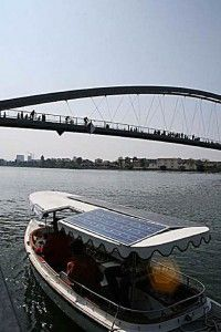 Solarfähre Basel, Dreiländerbrücke