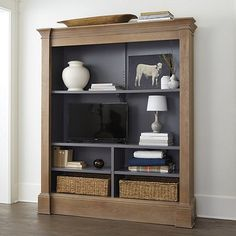 Find the perfect media console for your living area or living room! Shop media consoles and TV stands from Ballard Designs today. Media Furniture, Home Furniture, Furniture Ideas, Low Bookcase, Dark Interiors, Gray Interior, Bedroom Carpet, Ballard Designs, Adjustable Shelving
