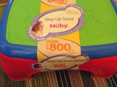 Love our Nuby Step Stool.  We use it daily!  #Nuby
