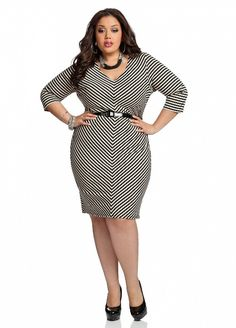 Plus size fashion tips - belt it with waist belt if you have one. V shaped / hip belt if you have a thick waist.