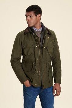 Cadwell Waxed Jacket - Coats & Jackets - Clothing - Men | Hackett
